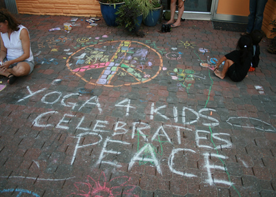 CHALK4PEACE 2008 Yoga In Daily Life, Alexandria, VA
