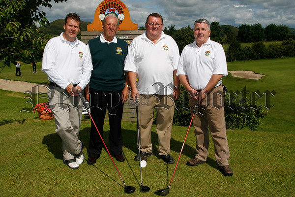 Captains Day competition at Cloverhill Golf Club, Noel Williams (captain) is pictured with Seamus Mc Givern (treasurer), Jim Mc Kay (secretary) and Joe Pilkinton before they set out,