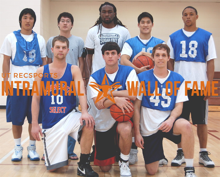 BASKETBALL White A Champion  Hibachi 2  R1: John Ebeling, Cullen Rogers, Marshall Schram R2: Hoyong Sin, Tim Shaw, James Shaw, Eric Sonnier Not Pictured: Simie Colson