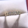 1.17ctw French Cut Diamond 7-Stone Band 12