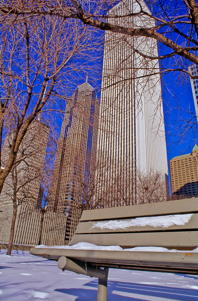 AON Center in Winter