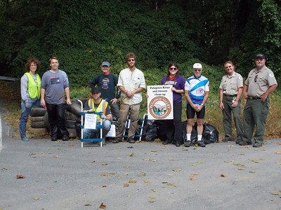 9.29.12 Patapsco River Cleanup Near Levering Avenue in Patapsco State Park in Elkridge