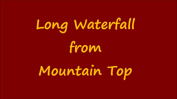 Waterfall From Mountain Top