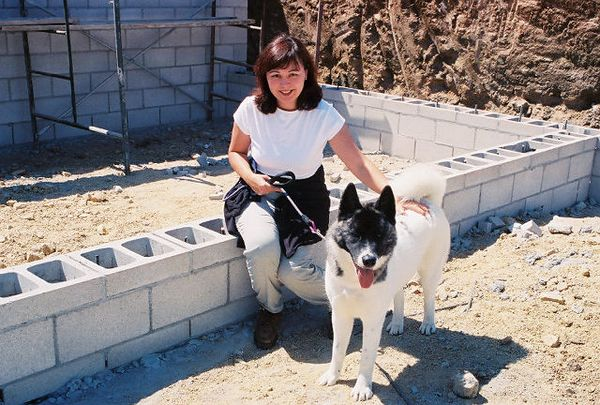 July 16, 2005 Foundation (second/main level). Arleen & Hana @Kyle Court Property, La Cresta, Murrieta, Riverside County, CA