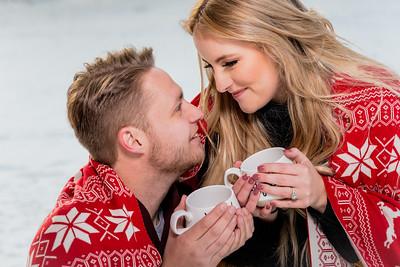 Santa Fe Hyde Park Snowy Winter Engagement Shoot