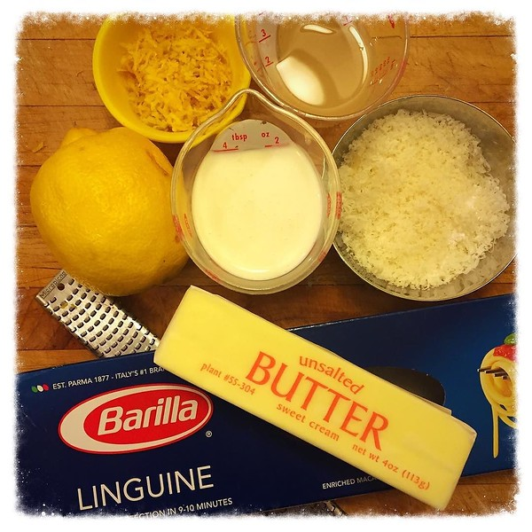 On the table tonite: linguine with lemon cream sauce #passionforpasta
