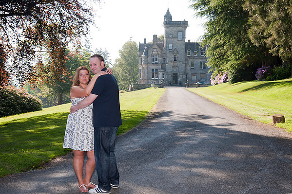 Penny and Craig pre wedding at Kinnettles Castle