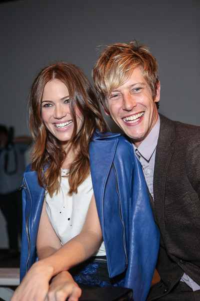 NEW YORK, NY - SEPTEMBER 07:  Actress / singer Mandy Moore (L) and actor Gabriel Mann attend Billy Reid's spring 2013 fashion show during Mercedes-Benz Fashion Week at Eyebeam on September 7, 2012 in New York City.  (Photo by Chelsea Lauren/Getty Images)