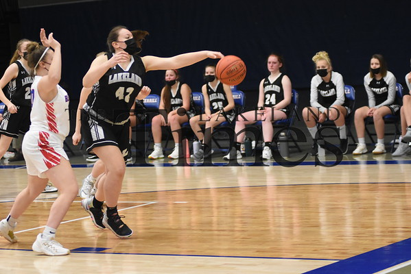 LUHS Girls' Basketball at Merrill February 12, 2021