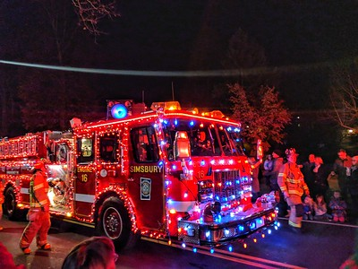Parade - Fire Truck Holiday Parade, Simsbury,  CT - 11/25/17