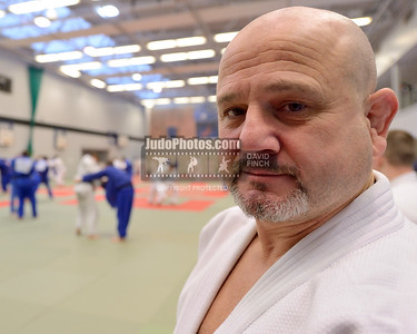 2013 Tonbridge Judo Training Camp 131220A5498: Olympian, former European champion and now British coach, Chris Bowles 56, at the Tonbridge Interna....