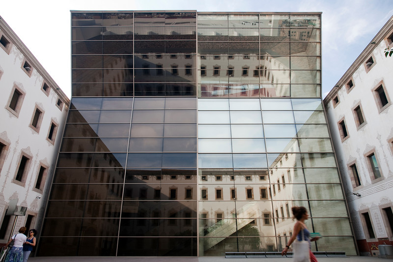 Yard of the Contemporary Culture Center, town of Barcelona, autonomous commnunity of Catalonia, northeastern Spain