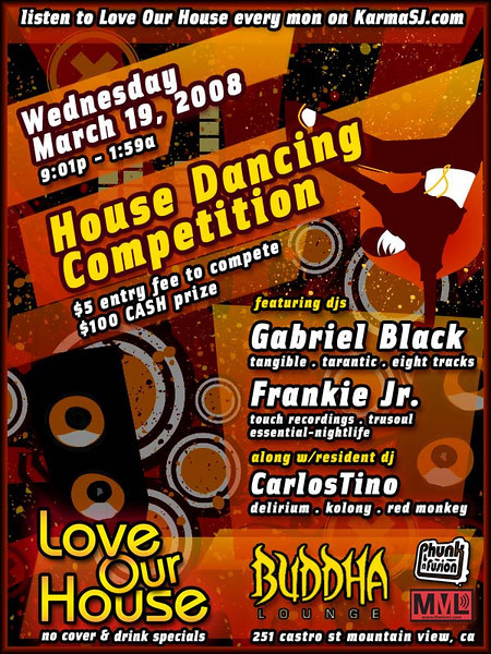 House Dancing Competition @ Buddha Lounge 3.19.08