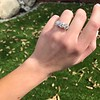 4.70ctw Antique Cushion Cut Trilogy Ring, GIA J/K VS 14