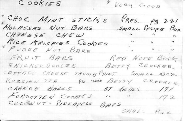 Grandmom's Recipes