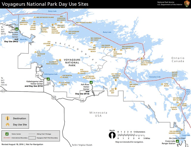 Voyageurs National Park (Day Use Sites)