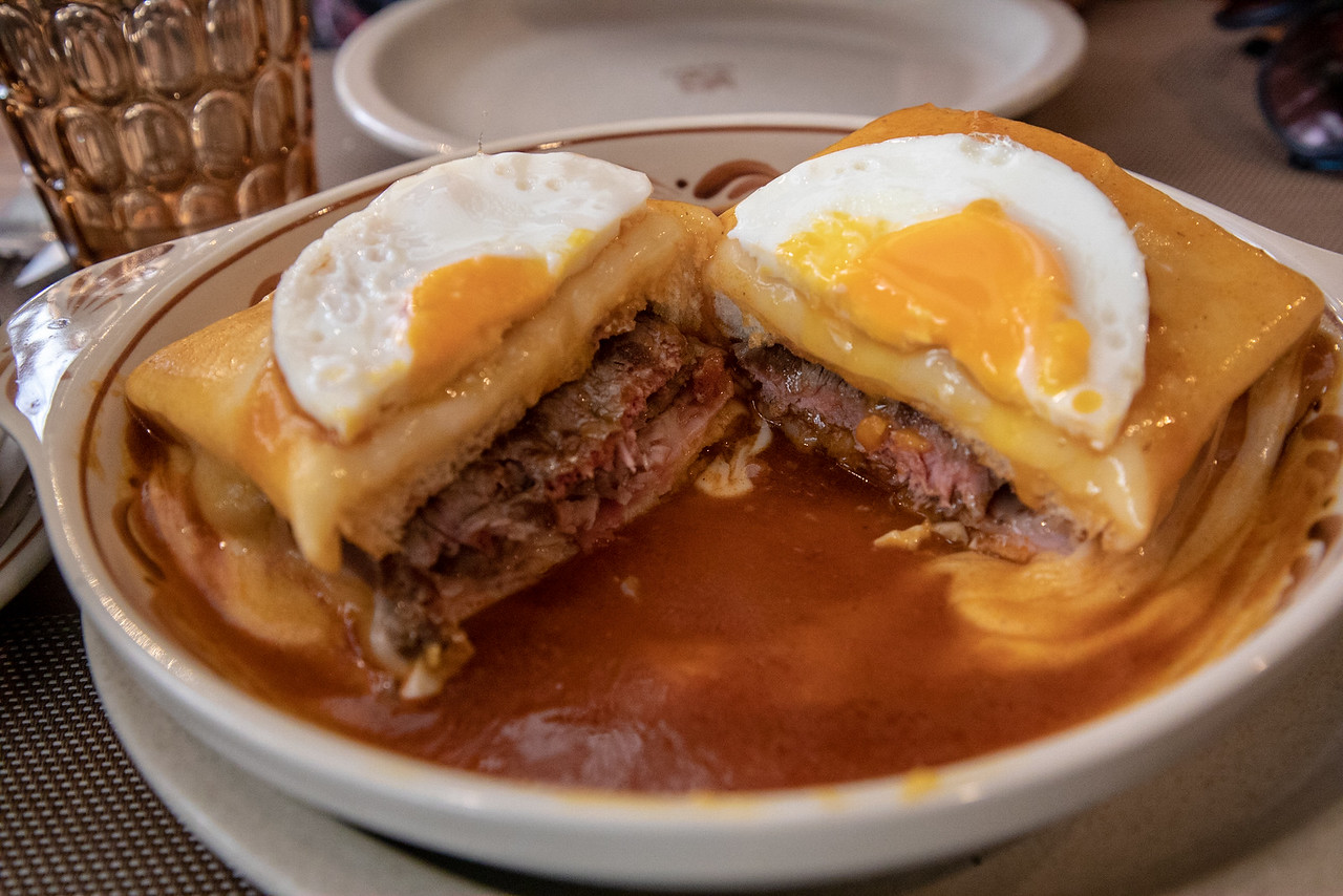 Francesinha is a very popular hangover food in Porto, Portugal