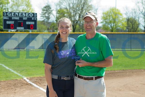 Softball Faculty Recognition (Photos by Ben Gajewski)