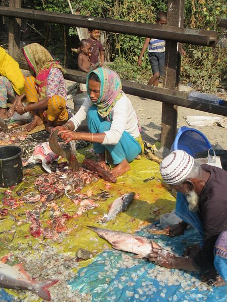 041_Dhaka. Rail Tracks Activities. Fish Market.JPG