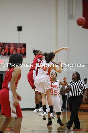 La Porte Girls JV Basketball vs North Shore 1/20/2012