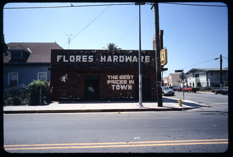 Stores on Maple Avenue from 23rd to 25th streets, west side of street (B), Los Angeles, 2004