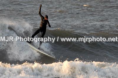 Surfing, Gilgo Beach, NY,  (4-13-07)