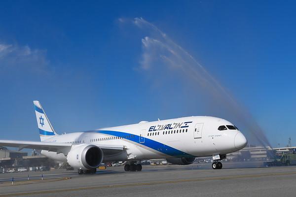 2017 Dreamliner 787 Inaugural Flight EWR to TLV
