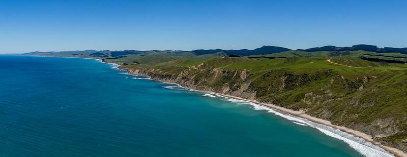 Blick vom «Castle Rock» der Küste entlang nach Süden