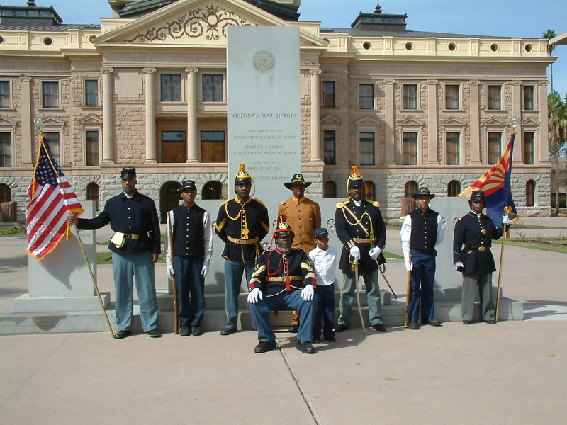 The Buffalo Soldiers of the Arizona Territory, Headquarters Mesa, AZ.