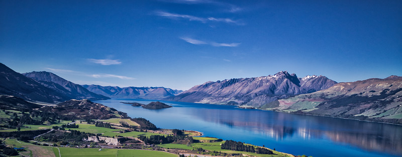 Looking over Glenorchy and Lake Wakitipu.