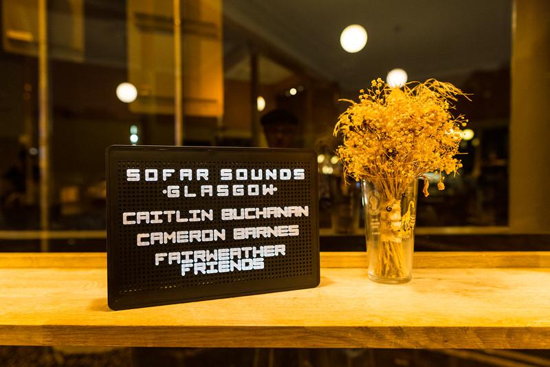Sofar Sounds Glasgow