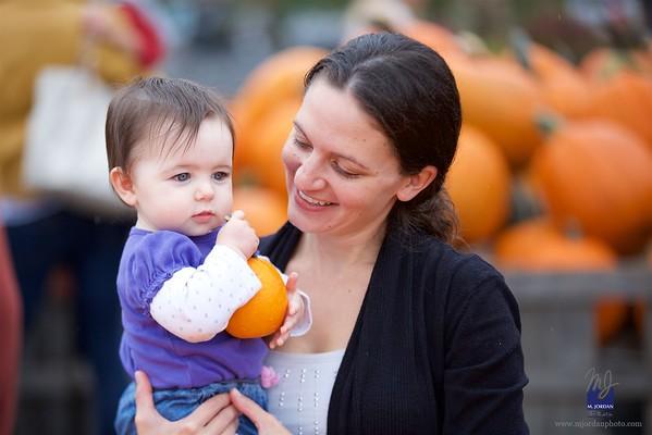 Pumpkin Picking with Rose