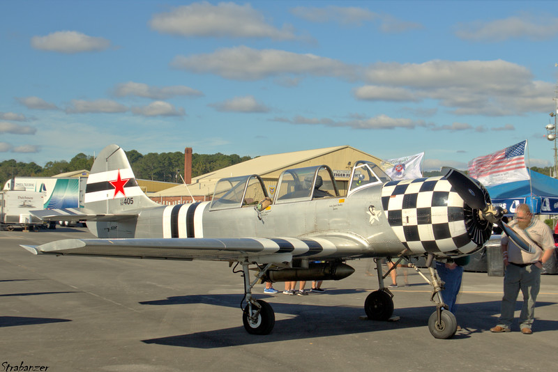 Yakovlev Yak-52   s/n 9010405    N30HT Rome GA 10/13/2018 This work is licensed under a Creative Commons Attribution- NonCommercial 4.0 International License.