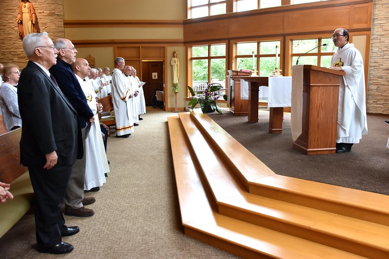 Fr. Quang talks to the jubilarians