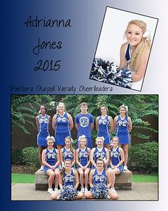 Parkers Chapel Cheerleaders 2015