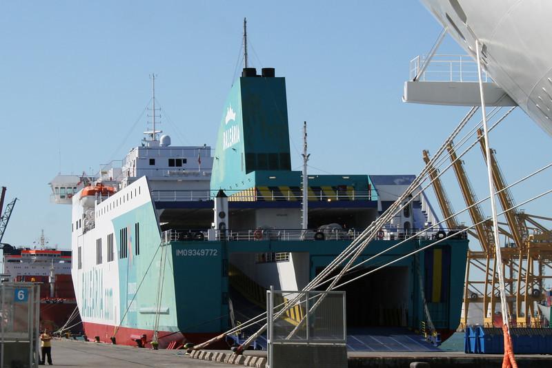F/B BORJA DOS moored in Barcelona.