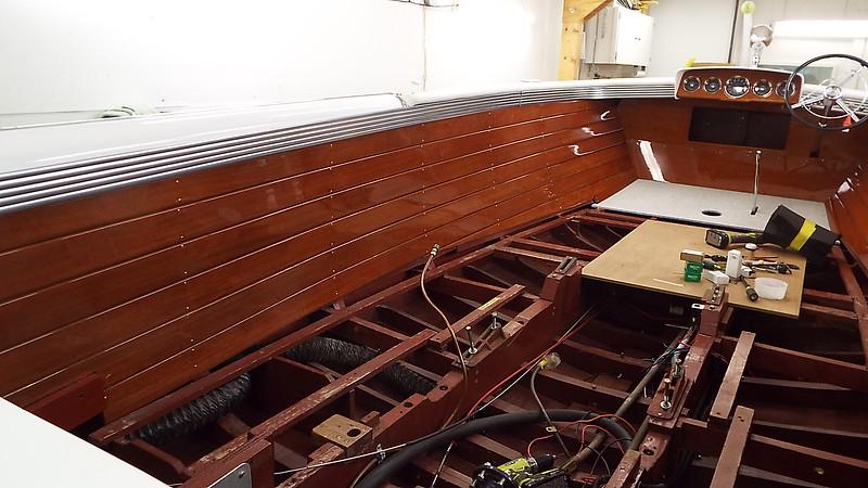 Port side liner installed.
