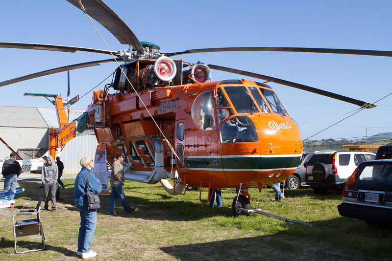 A giant heavy lift helicopter was on display.