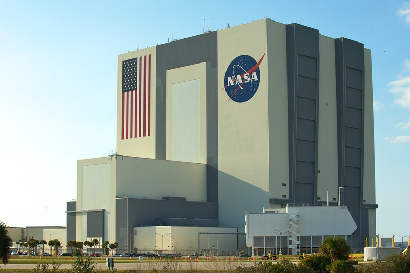 02/20/2011 -- Cape Canaveral, Florida -- The Vehicle Assembly Building basks in the late afternoon sun at Kennedy Space Center.