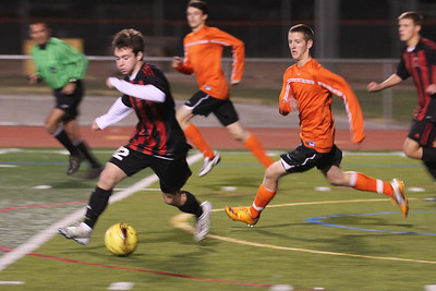 Cal High Soccer vs Monte Vista 1-12-12