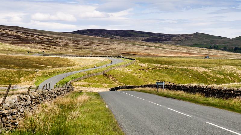 Meandering moorland road