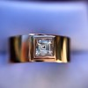 0.40ct Carre Cut Rose Gold Band 33