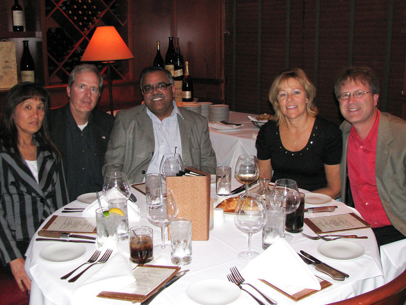 Howard's retirement dinner.  Lisa and Dave Globig, Murali Iyer, Susie and Rick Dreher.