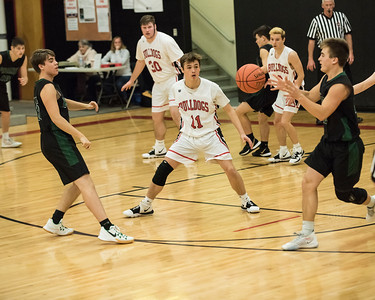 2019 Boys Varsity Basketball:  Hall-Dale vs Spruce MT