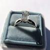 1.00ct Emerald Cut Diamond Solitaire, Platinum 17