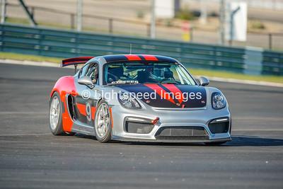 #9 Silver/Red Porsche Cayman GT4 Club Sport