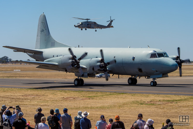 AP-3C Orion and MH-60R Seahawk helicopter