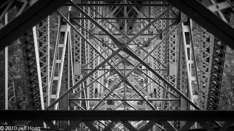 Arch bridge at Canoe Pass