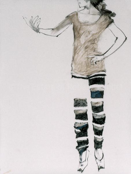 Study for Sobi in Striped Stockings (1997)