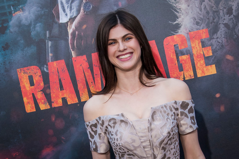LOS ANGELES, CA - APRIL 04: Alexandra Daddario arrives at the Premiere Of Warner Bros. Pictures' 'Rampage' at Microsoft Theater on Wednesday April 4, 2018 in Los Angeles, California. (Photo by Tom Sorensen/Moovieboy Pictures)